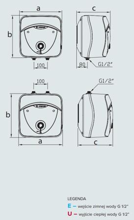ANDRIS 6 LUX 6OR Elektryczny pojemnościowy podgrzewacz wody