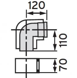 VAILLANT - Kolano koncentryczne 87 st  60/100  PP